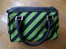 J. Crew Navy Blue Green Striped Small Purse Handbag