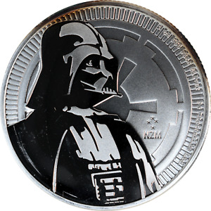 1 oz Silver Coin 2017 Niue Darth Vader .999 Fine Toning Scratch New Zealand Mint