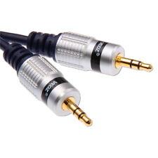 5m Câble Jack 3,5mm mâle AUX Iphone Ipod Audio Stereo Plaqué Or 5 métres 3,5