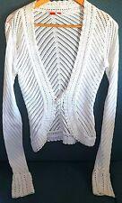 Ladies Womens Esprit Knit Fashion Cardigan Wrap Tunic Top White size M