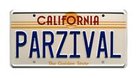 Ready Player One | Wade Watts' DeLorean | PARZIVAL | STAMPED Prop License Plate