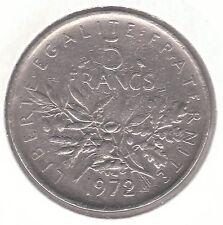 FRANCIA 1972 5 Franco nichel Clad Copper Nickel Coin