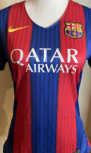 Nike Barcelona FC Women's Large Messi Jersey Defect