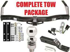 COMPLETE TRAILER HITCH RECEIVER TOW PACKAGE ~ FAST SHIPPING ~ EASY INSTALL~ NEW