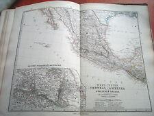 c32-1-81 Carte atlas Stieler Mexique