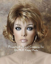 Trendy and Cheeky Short Wavy wig in stunning Golden Blonde mix LN  24BT18