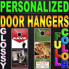 """5000 Door Hangars 14pt GLOSSY Full Color 2 Sided 3.5""""x8.5"""" Door hanger 3.5x8.5"""