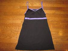 Sharp Tennis Dress Peachy Tan Golf Built In Bra Black Purple S Small Outfit