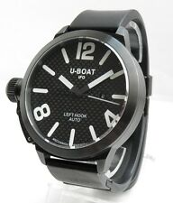 U-Boat 53mm Black Left Hook Automatic IFO watch PVD carbon fiber dial black rubb