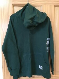 New Oshkosh Thermal Tee Shirt Boy Hooded Hoodie Green 7,10,12,14