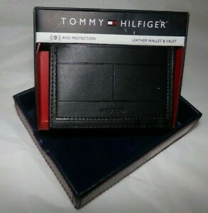 NIB MENS Tommy Hilfiger TRI-Fold Wallet / Card Holder~BLACK