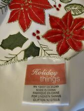 Christmas Tablecloth Brand is Holiday Things RN 12407