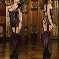 lenceria erotica Sexy Lace Net Bodysuit Stocking Crotchless Fishnet Open Crotch