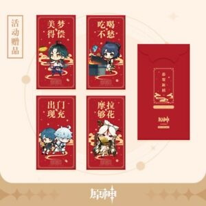 Official Genshin Impact Mihoyo Chinese New Year Red Packet Envelope