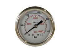 """glicerina smorzata ad alta pressione manometro con 1//4/"""" seguito dietro MANOMETRO"""