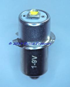 5.0W CREE - LED 300 Lumen Upgrade PR Bulb for (1 to 6) Cell Flashlight .4A, 1-9V