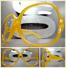 OVERSIZED VINTAGE RETRO Style Clear Lens EYE GLASSES Jumbo Orange Fashion Frame