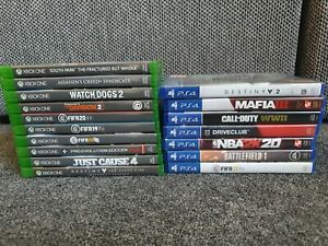 Games Bundle - Joblot Mixed Games- PlayStation 4 / Xbox One