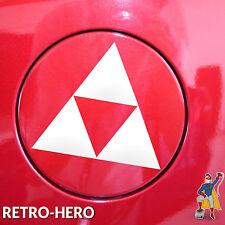 Zelda Aufkleber Vinyl Link Dreieck Nintendo Sticker Triforce Logo Weiß 15x13 cm
