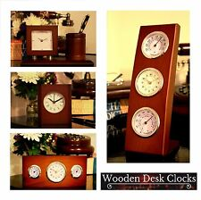 Classical Wooden Desk Table Clock for Home Business Office Gift Idea for Father