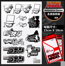 Detective Conan Metal Sticker Decals Tags Gift