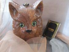 Timmy Woods of Beverly Hills Kitty Cat Acacia Wood Handbag /Purse New
