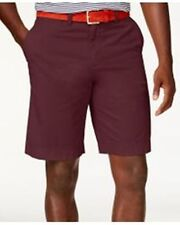 Tommy Hilfiger Core Classic-Fit Flat Front Shorts Tawny Port Mens Size 34 New