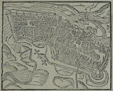 Sebastian Münster - MAGDEBURG Vogelschau - Holzschnitt 1588