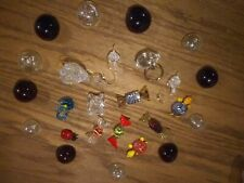 lot of 25 crystal glass figurines bubbles swans turtles wrapped candy