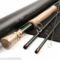 Fast Action Skyhigh Fly Fishing Rod IM12 Toray Carbon 10FT 7WT 4pcs Tip Flex 9.5