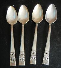 4 Teaspoons Community Silverplate, Coronation Pattern, Guc, Vintage
