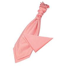 Cravatta Rossa Da Uomo TESSUTA semplice tinta unita controllo Formale Classico libero Fazzoletto da taschino da DQT