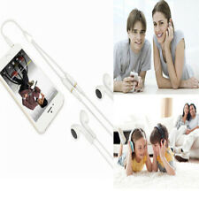 New Audio Mic Splitter Y Cable Headphone Adapter 1 Male Jack To 2 Dual Female