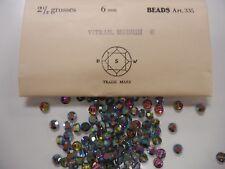 72 swarovski rare crystal beads,6mm vitrail medium #335