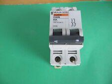 Schneider Electric Circuit Breaker MG24447, Multi 9, C60N, D3A; DIN Rail; 2 Pole