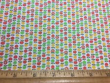 Vintage Cotton Fabric 40s50s SWEET Lil Apples NOVELTY 35w 1yd