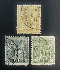 nystamps Luxembourg Stamp # 53/57 Used $50 J15y1206