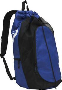 Asics Gear Bag 2.0 Multi-sport Gym Carry-all Bag Drawcord Backpack Royal Black
