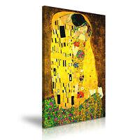 ARTIST GUSTAV KLIMT The Kiss Canvas Framed Printed Wall Art - More Size
