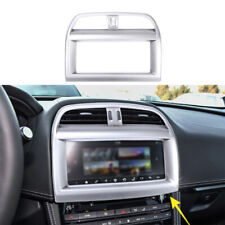 Fit For 2016-2019 Jaguar XE Matte Silver Central Console Navigation Panel Trim