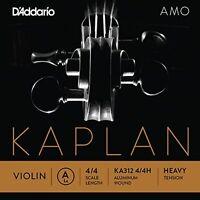 D'Addario Kaplan Amo Violin A String, 4/4 Scale, Heavy Tension