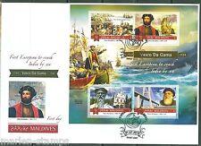MALDIVES 2015 VASCO DA GAMA 1st EUROPEAN TO REACH INDIA BY SEA SHEET  FDC