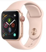 Apple Watch Series 4 40mm Gold Case Pink Sand Sport Band GPS + Cellular Mint