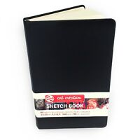 Royal Talens – Art Creation Hardback Sketchbook – 80 Sheets – 13 x 21cm - Black