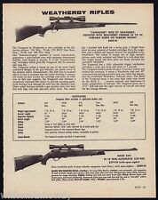 1982 WEATHERBY Vanguard & Mark XXII Rifle AD