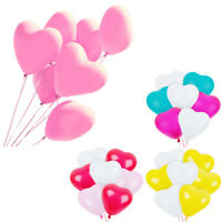 10PCS Pack Personalise Heart Shaped Latex Balloons Wedding Birthday Party Decor