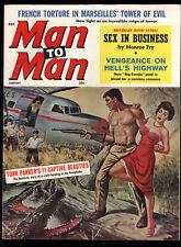 Man To Man Aug 1960 Sexy GGA Crocodile Cover Bondage Photo Pin-Up Girl VF-