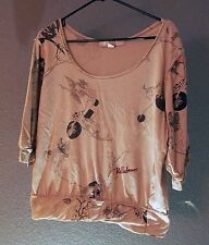 Stella McCartney for H&M tattoo print casual top t-shirt blouse Size L Ladies