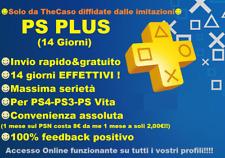 PLAYSTATION PS PLUS 14 GIORNI NESSUN CODICE - PS4 PS3 PS VITA