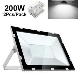 2X 200W LED Fluter Flutlicht SMD Außen Strahler Innen Scheiwerfer Kaltweiß 220V